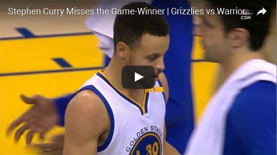 Stephen Curry Misses the Game-Winner   Grizzlies vs Warriors   January 6, 2017   2016-17 NBA Season