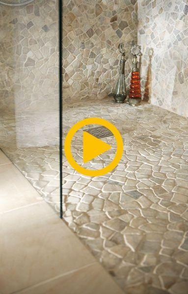 Bodenbelag für Dusche im Wellnessbereich (mit Bildern