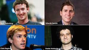 Mark Zuckerberg, Chris Hughes, Dustin Moskovitz, Eduardo Saverin são os fundadores do Facebook