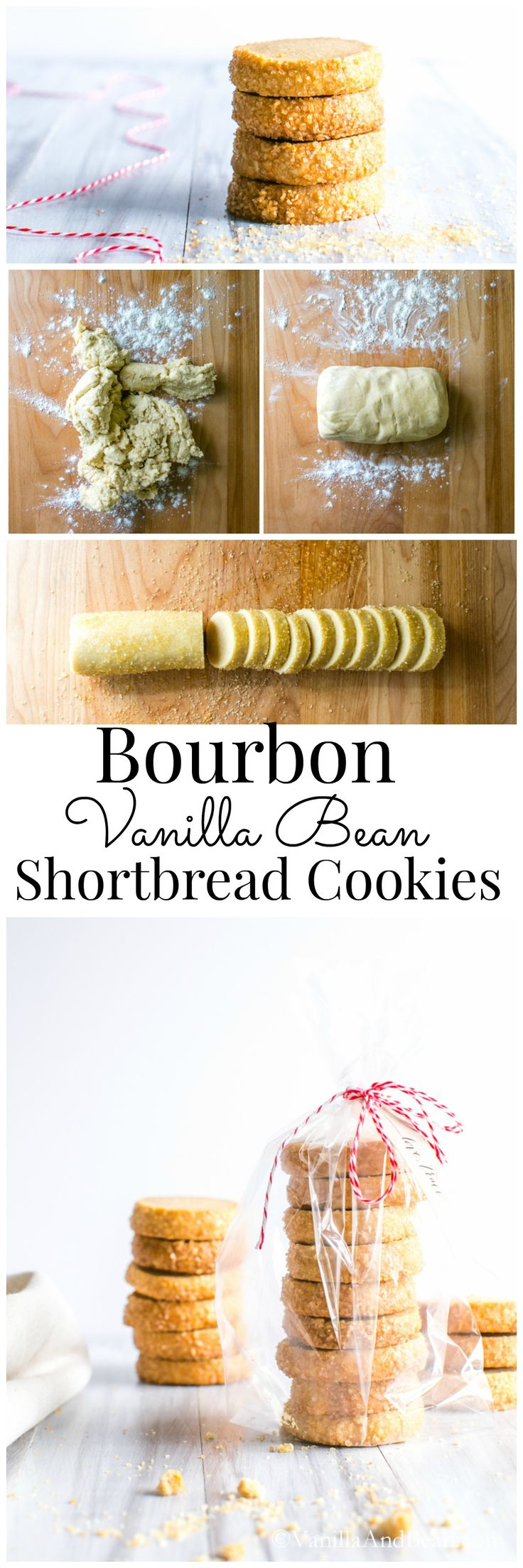 Bourbon and Vanilla shine in this buttery shortbread treat. Easy to make, and makes a fabulous gift!   Vanilla And Bean (Christmas Bake Shortbread)