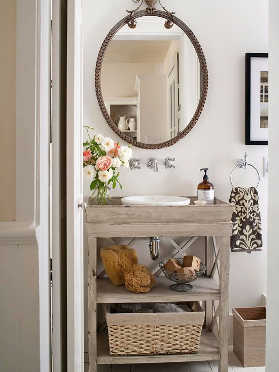 single vanity bathroom