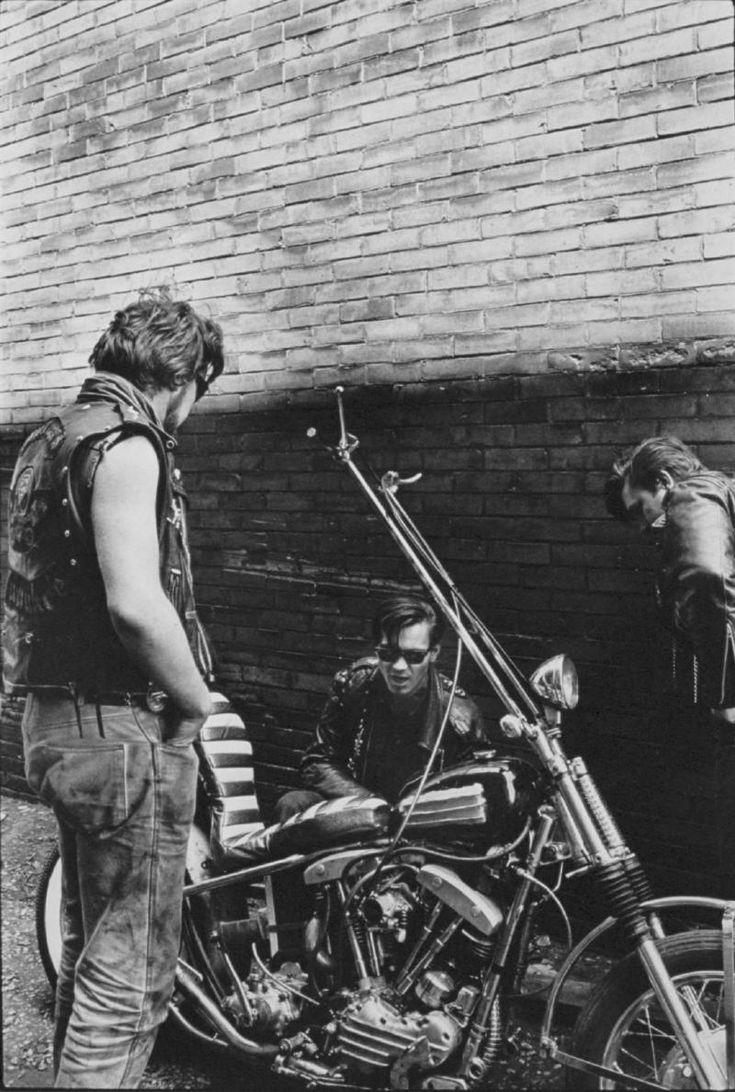 """Chopper, Milwaukee"" fro The Bikeriders by Danny Lyon, ca. © 1965-66  –"