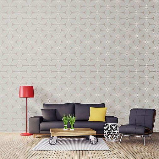 Tesco direct: Coloroll Vibration Mink Wallpaper