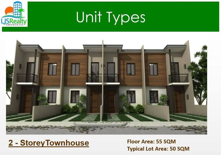 2 Storey Townhouse Floor area: 55 sqm Typical lot area: 50 sqm 2 bedrooms 2 toilet and bath living area kitchen/dining area service area parking area balcony  Price: 3,500,000 Reservation fee: 30,000 Equity/Downpayment (20%): 700,000 Net Equity: 670,000 Monthly Equity: 22,333.33 per month for 30 months  80% balance can be loaned through bank, pag-ibig or in-house financing To request for reservation or site viewing please contact  Cathy S. Vitor  09233030595 GMail Account…