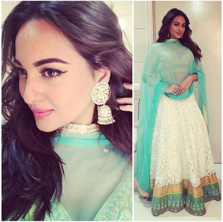 #SonakshiSinha looks stunning in a #AnitaDongre lehenga for a sangeet ceremony. Styled by @chinardesai. #Bespoke #Bridal #CelebrityFashion #Bollywood #sangeet #sonakshisinha #celebstyle #lehenga #Indian #wedding #Elegance #Ethereal #Glamour #Royal #Heritage #instafashion