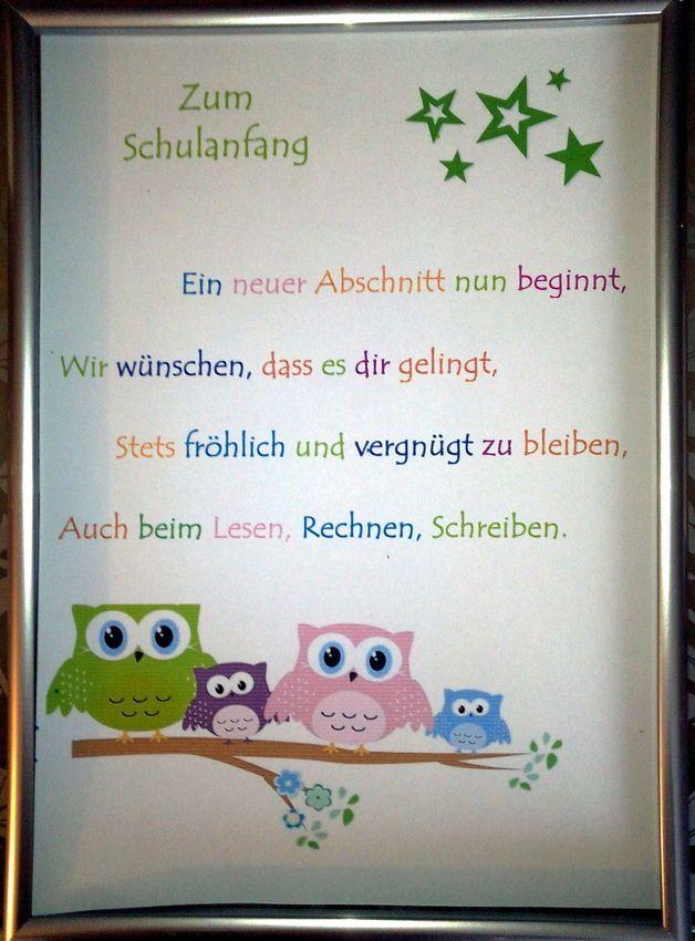 ZUM SCHULANFANG*Kunstdruck (Diy School)