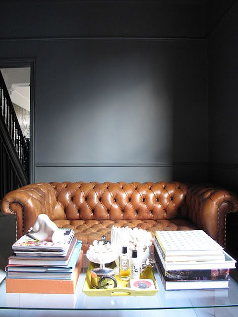 A vintage leather chesterfield sofa c1880 in tan leather