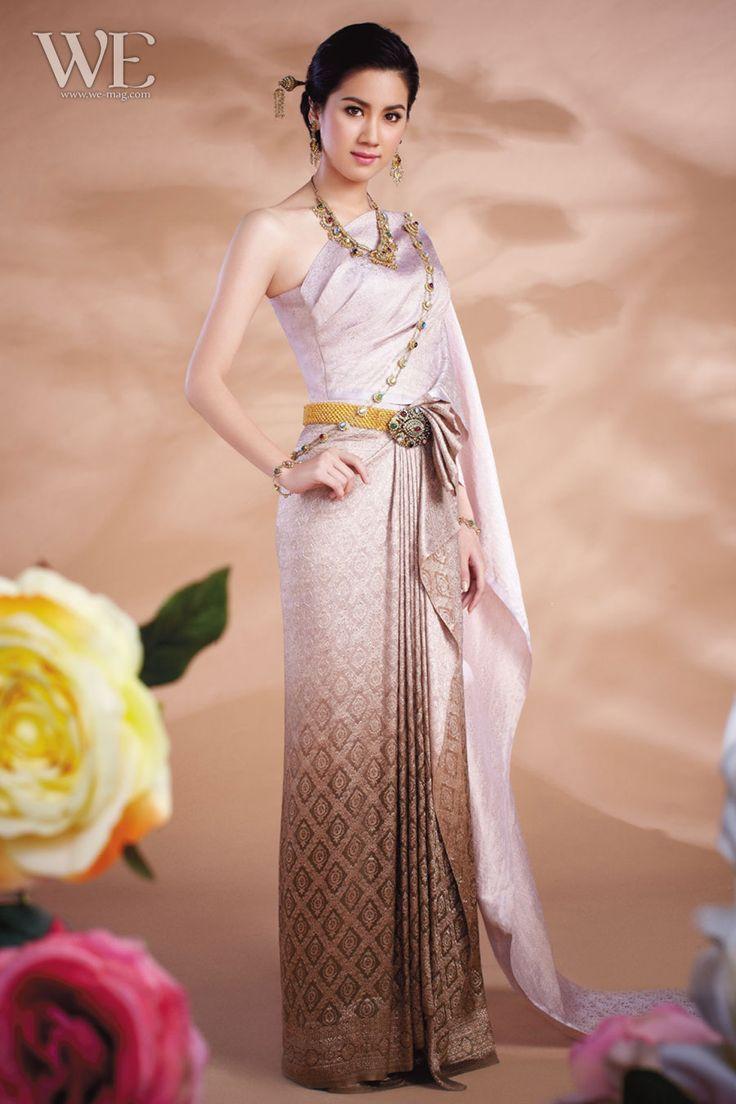 458 best thai traditional dress images on pinterest thai for Thai style wedding dress
