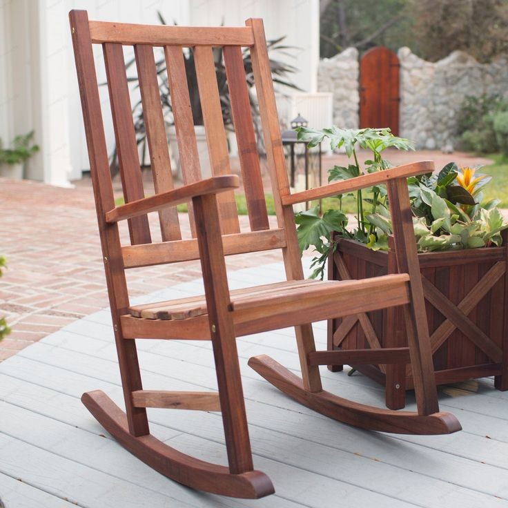 Belham Living Richmond Heavy Duty Outdoor Wooden Rocking Chair | From  Hayneedle.com