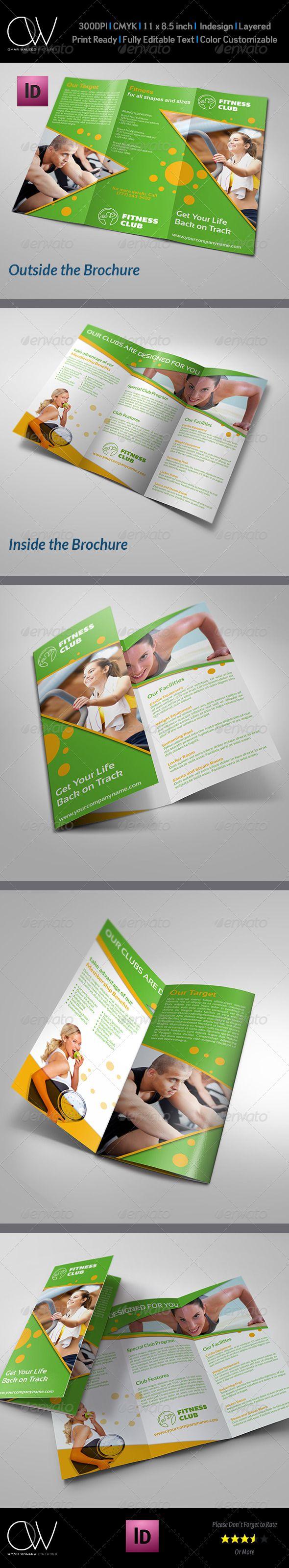Fitness GYM Brochure Tri Fold Template Vol 2