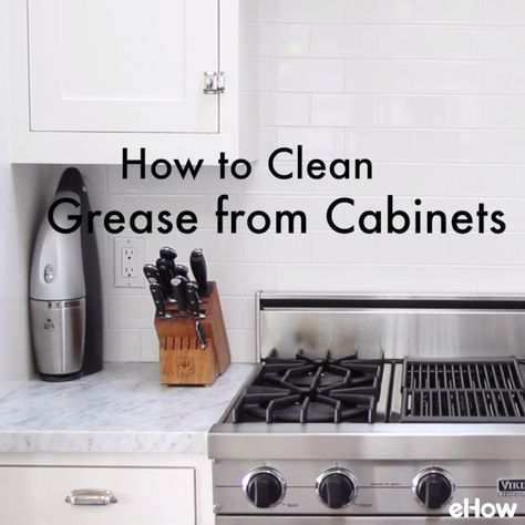 how to clean grooved wood cupboards