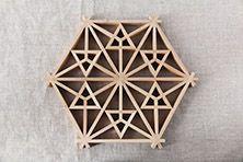 Kumiko Pot Coaster (Inomata art joinery shop)