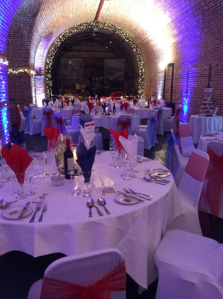 Wedding @explosionmuseum in Gosport, uplighters by DJ Joe