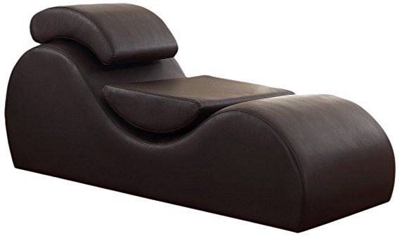 Us Pride Furniture Faux Leather Deluxe Stretch Chaise Relaxation And Yoga Chair With Removable Pi Dark Brown Living Room Furniture Furniture Living Room Chaise