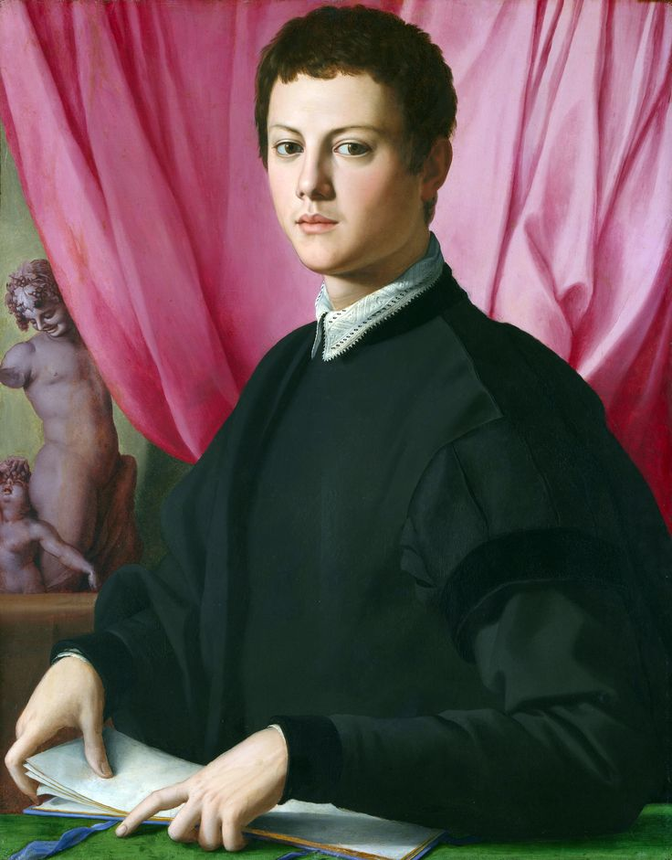 """Portrait of a Young Man,"" 1550-55, Bronzino"