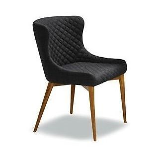 Rs 1421 Charcoal Fabric Chair With Quilted Backthis Stylish Has A Sleek Kitchen ChairsDining Room