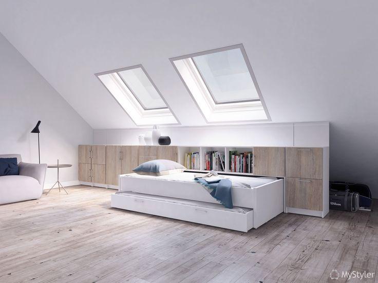 25 beste idee n over kast oplossingen op pinterest slaapkamer opslag oplossingen en deken opslag - Lay outs slaapkamer onder het dak ...