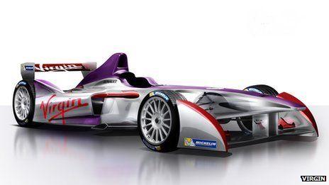 Virgin joins Formula E electric racing car series PIC The Virgin Formula E car and livery