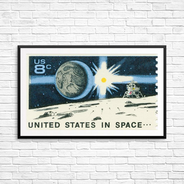 Large poster: Apollo Project, Apollo landing, moon landing, moon lander, space exploration, earthrise, NASA poster, space decor, astronaut by USAStampArt on Etsy https://www.etsy.com/listing/492368963/large-poster-apollo-project-apollo