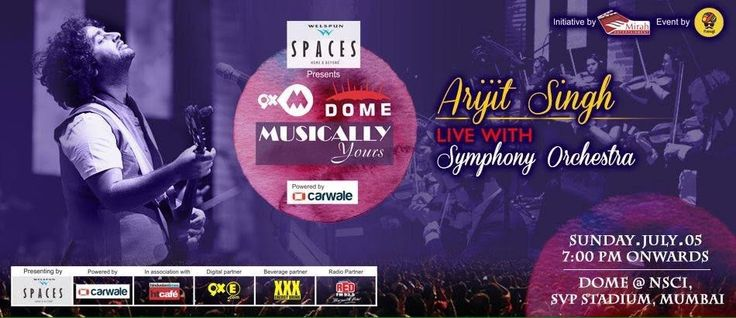 Are you ready for live performance Mumbai has been waiting for? #thexxxuniverse and #ArijitSingh at Dome Hall NSCI