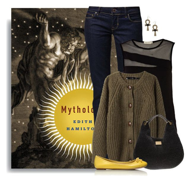"""Mythology by Edith Hamilton"" by ameve ❤ liked on Polyvore"