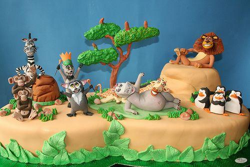Amazing Madagascar kids birthday cake!