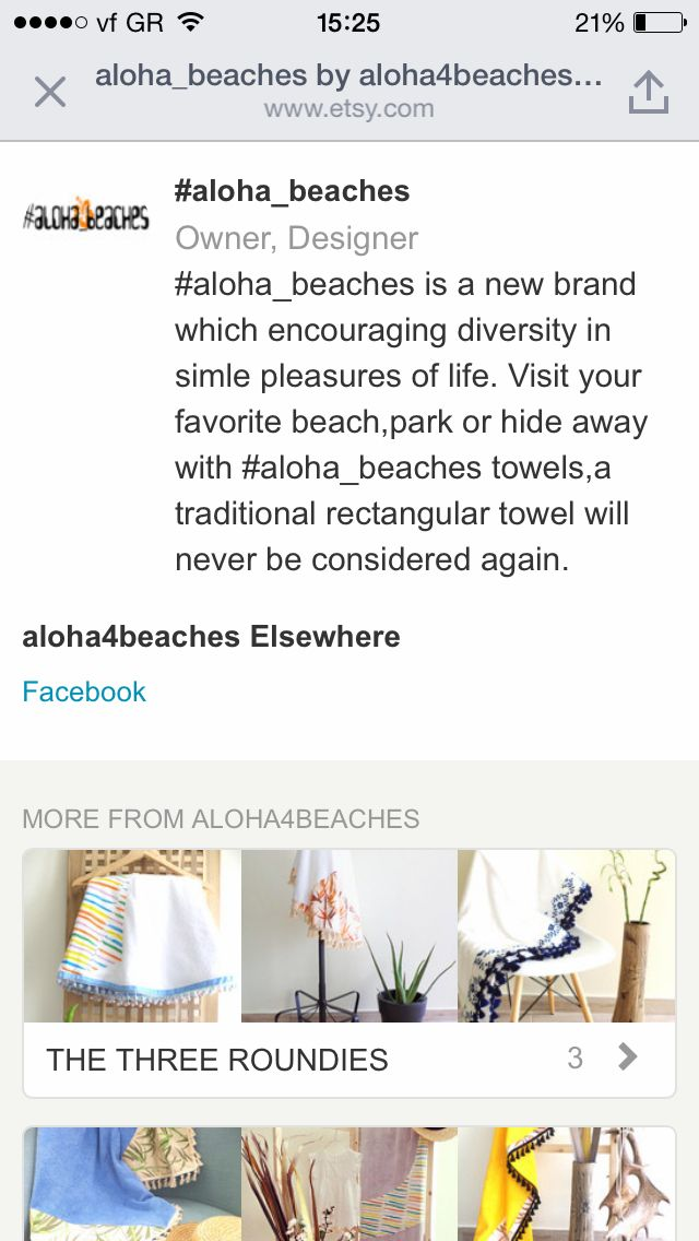 Visit our store on https://www.etsy.com/shop/aloha4beaches?ref=hdr_shop_menu an learn about us before you choose one of our unique beach towels.