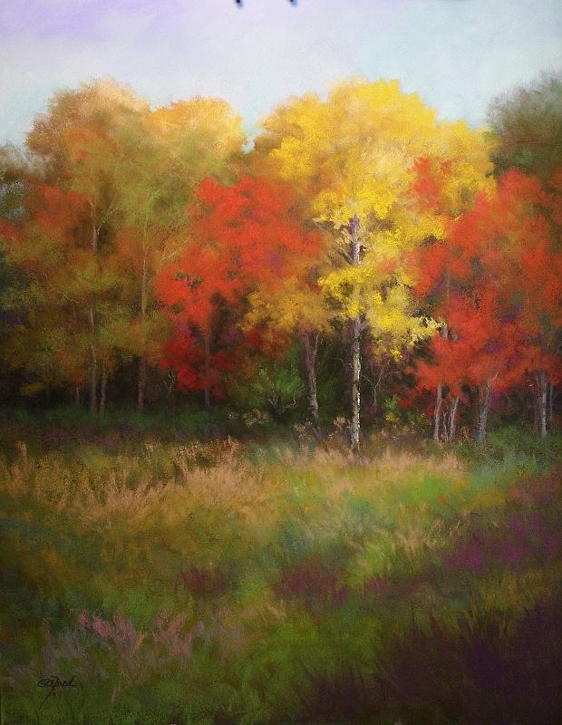 "©2013 Paula Ann Ford, Mingle,  Soft Pastels on Ampersand Pastelbord, 14""x18"" #Adirondack"