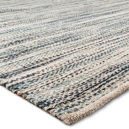 Woven Rug - Threshold™ : Target This rug is natural and should be pretty durable. It has a nice varation in color and would add a little pop of blue!