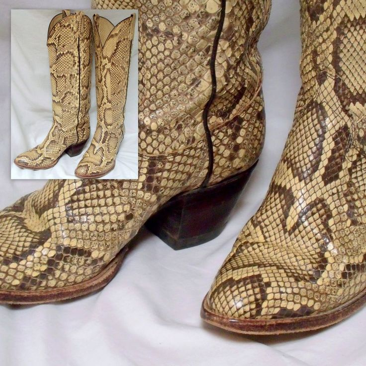 #Women's Vintage cowboy boot, #vintage cowgirl boot, #snakeskin boot, #vintage Dan Post boot, #python boot, #80s, #Boho, #western boot, #Sz 7.5, #size 8, #DanPost, #CowboyBoot, #mothball haven, #gvs team