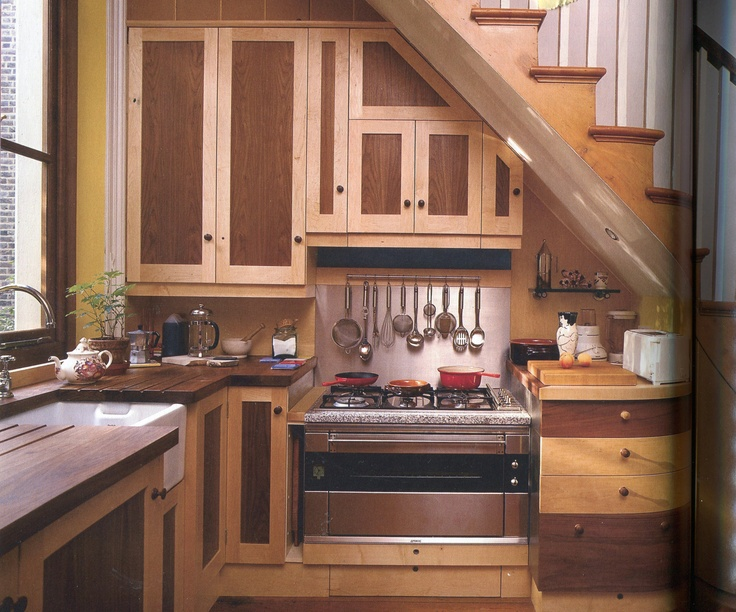 392 best images about tiny house kitchens on pinterest for Under stairs kitchen ideas