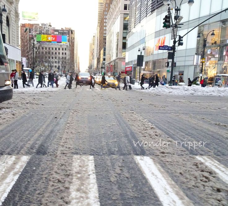 broadway macy after the Jonas Snowstorm