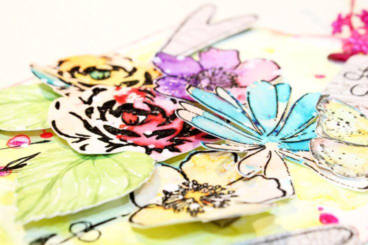 tutorial pintando flores con acuarelas - watercolor flowers tutorial step by step