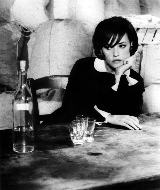 Jeanne Moreau. Half Irish (mother) half french.