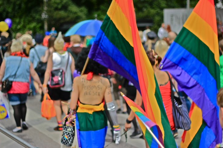 """It's about persons, not sex"" - Helsinki Pride Parade 30.6.2012. Photo by Jouni Jyllinmaa"