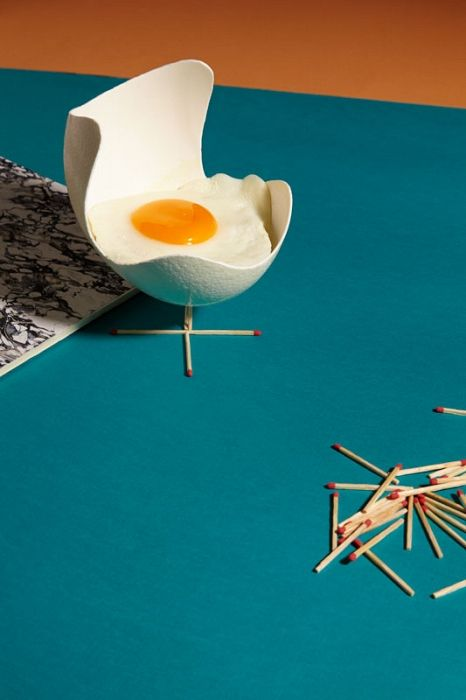 »Möbel mit Stiel« Sarah Illenberger Egg chair_Arne Jacobsen
