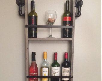 Honeycomb Wine Rack MidCentury Modern Decor por HaaseHandcraft