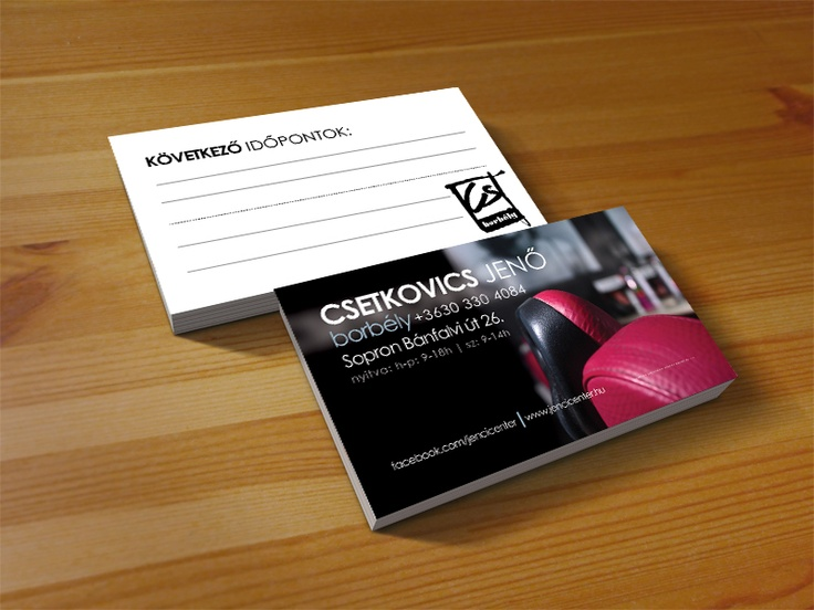 Hairdresser namecard with dates