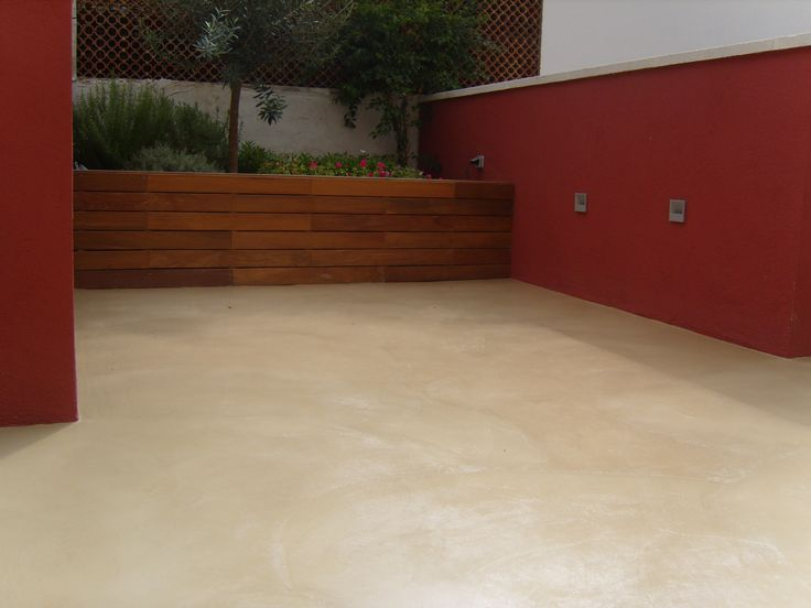 10 best images about exteriores de microcemento on for Barbacoa patio interior