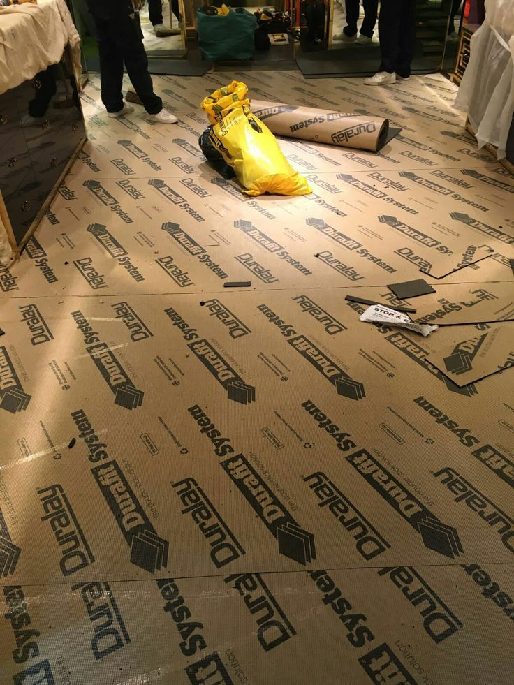 Installing Underfloor Commercial Shop