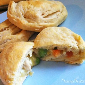 This is dinner tonight! got my chicken and veggies in the crockpot! Mini Pot Pies Recipe - Would have to make my own cream of chicken soup for LF but still sounds good.