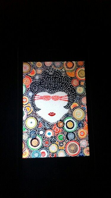 Off my Face Geisha. oil and acrilic 2007 by ( andrew Raj Pontoni )  $3200
