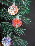 Artsonia Art Exhibit :: Wet on Wet Ornaments on a Tree grade 2, winter art