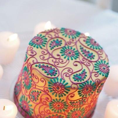 Mehndi Design Cake