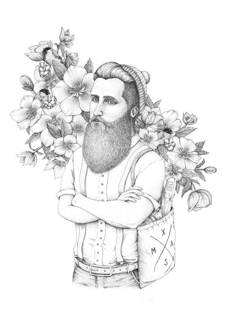 Hipster Santa, by Mia Olofsson.