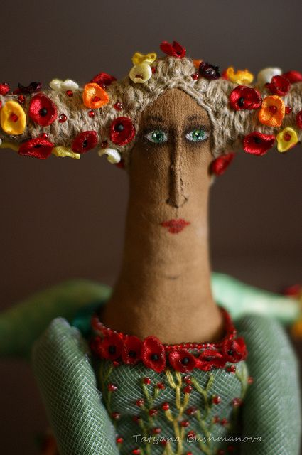 ♒ Enchanting Embroidery ♒ embroidered doll