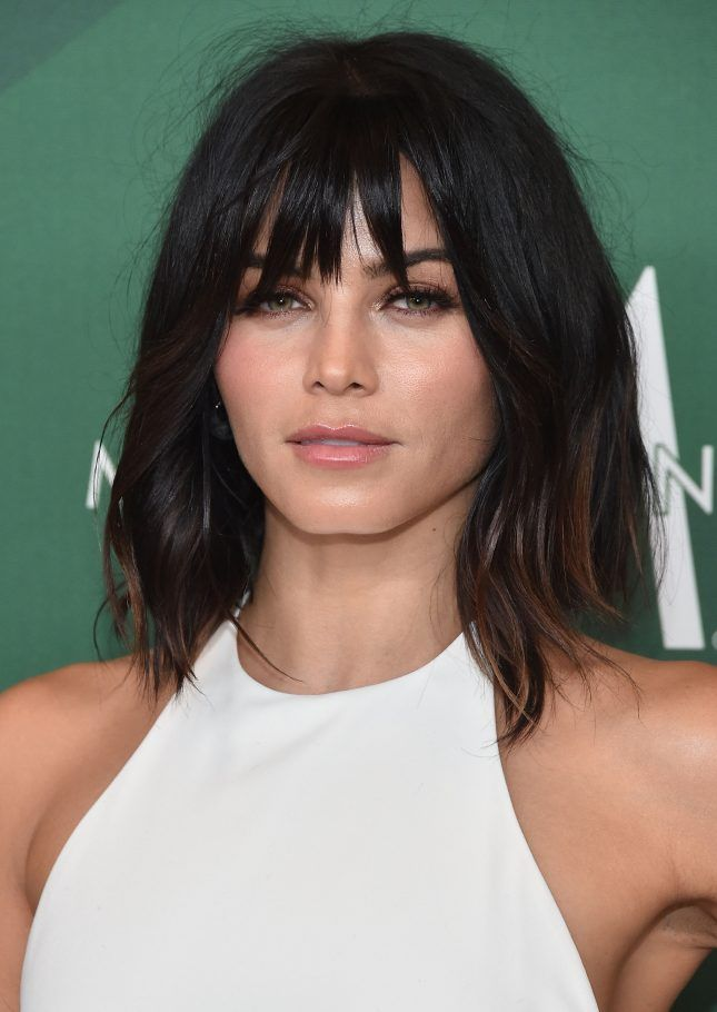 Jenna Dewan Tatum Is Totally Twinning With Helena Christensen Thanks to New Fall Bangs via Brit   Co