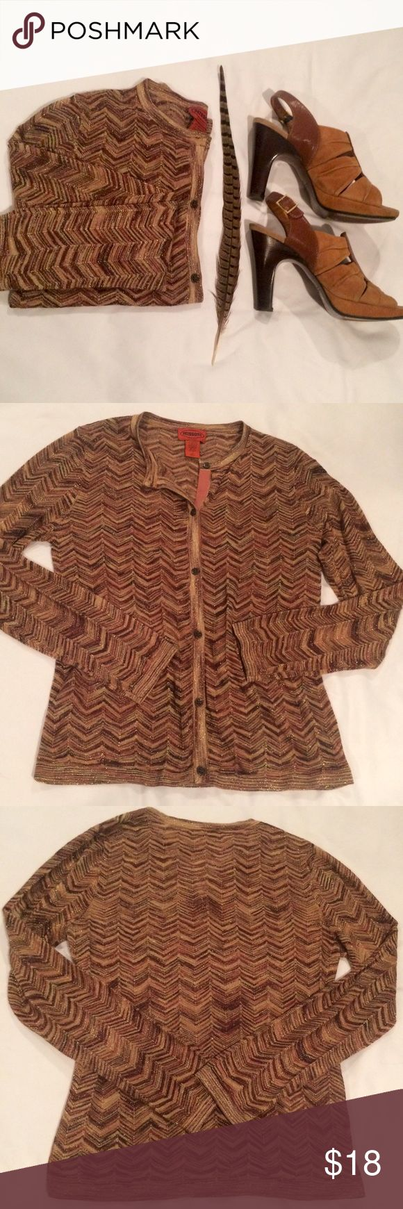 Missoni for Target Metallic Cardigan, size Medium. New without tags- Never Worn. Missoni for Target Metallic Cardigan, size Medium. In excellent condition! Sweaters Cardigans