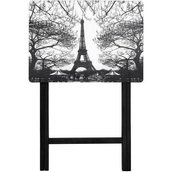 Oriental Furniture Eiffel Tower Tv Tray Table ($175) ❤ liked on Polyvore featuring home, furniture, tables, asian table, eiffel tower table, eiffel tower furniture, oriental table and asian inspired furniture