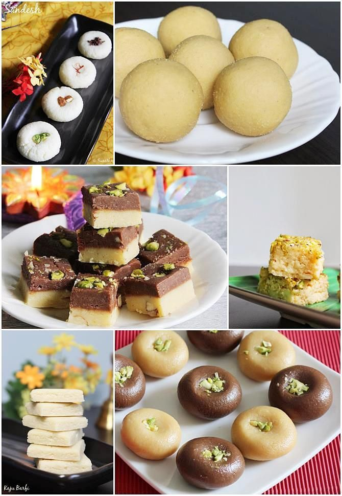 Diwali sweets recipes - 27 ladoo recipes, bengali sweets, kaju katli, gulab jamun, peda, halwa, payasam - Over 100 delicious sweets and snacks